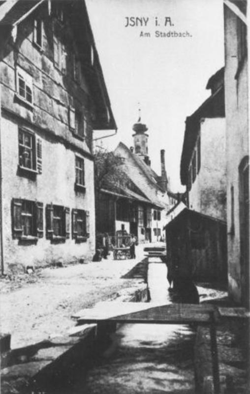 Isny_Stadtbach_um_1900_k
