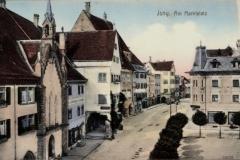 marktplatz mit stiftskirche um 1900_k