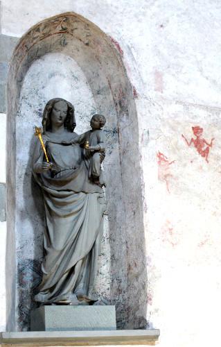 Reichenau Maria mit Teufel in Mittelzell